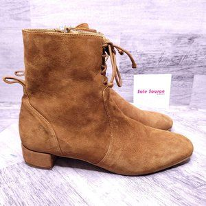 Zara Basic Collection Suede Ankle Boot Brown 40 10